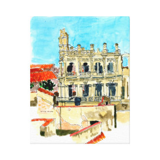 Hotel Ruin, Old Havana, Cuba Canvas Print