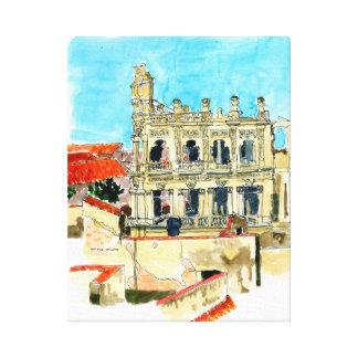 Hotel Ruin, Old Havana, Cuba postcard Canvas Print