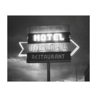 Hotel Sign 1942 Canvas Print
