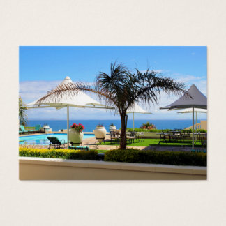 Hotel Swimming Pool and Gardens Business Card