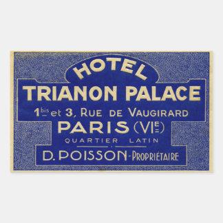 Hotel Trianon Palace (Paris France) Rectangular Sticker