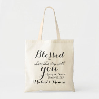 Hotel Wedding Favor Custom Gift Tote Bag