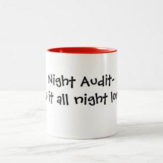 hotel work Two-Tone coffee mug