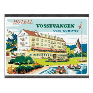 Hotell Vossevangen Voss-Norway, Vintage Postcard