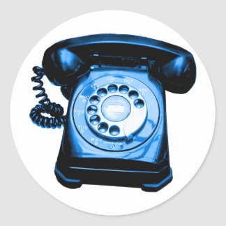 Hotline Blue Classic Round Sticker
