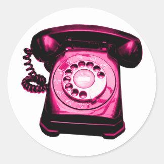 Hotline Crimson Classic Round Sticker