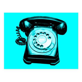 Hotline in Cyan Postcard