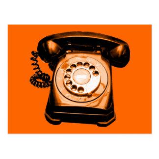 Hotline in Orange Postcard