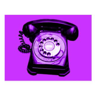 Hotline in Purple Postcard