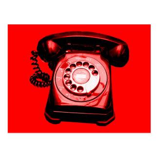 Hotline in Red Postcard