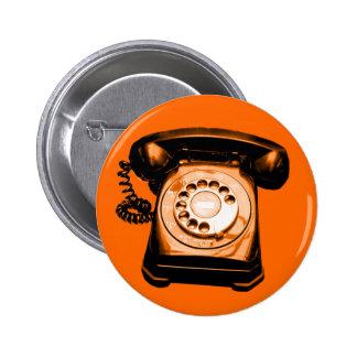 Hotline Orange 6 Cm Round Badge