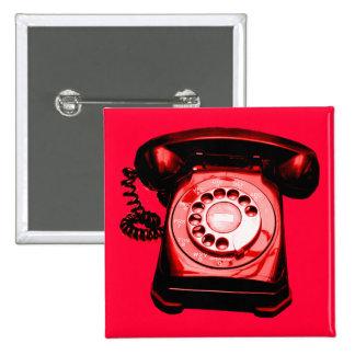 Hotline Red 15 Cm Square Badge