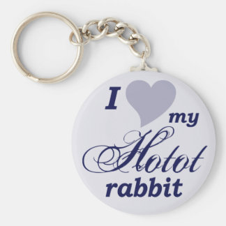 Hotot rabbit key chains