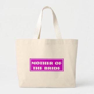 Hotpink Mother of the Bride Wedding Jumbo Tote Bag