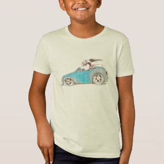 Hotrod Cartoon on Kids T-Shirt