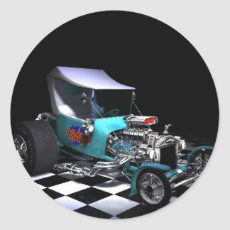 HotRod copy Classic Round Sticker