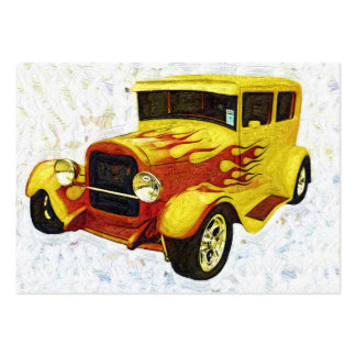 Hotrod in Flames Artcard ACEO Business Card