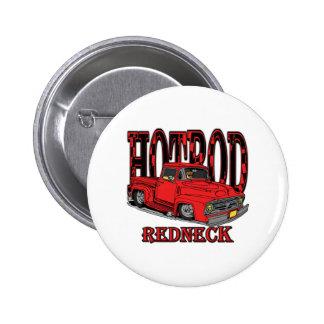 Hotrod Redneck 6 Cm Round Badge
