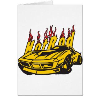 Hotrod Vette Flames Card