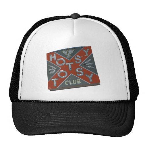 HOTSY TOTSY DIVE BAR SIGN TRUCKER HATS