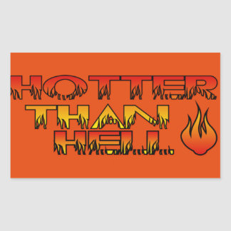 Hotter Than Hell Sticker