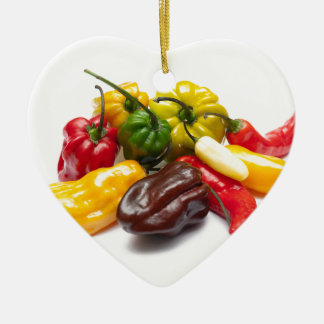 Hottest chilies ceramic ornament