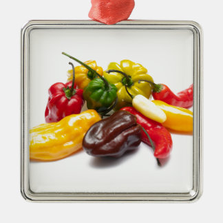 Hottest chilies metal ornament