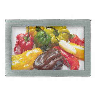 Hottest chilies rectangular belt buckles