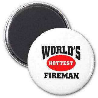 Hottest Fireman Refrigerator Magnet