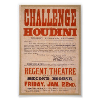 Houdini Challenge Poster
