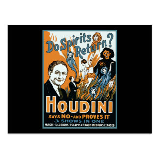 Houdini Do Spirits Return Postcard