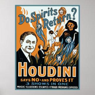 Houdini Do Spirits Return Poster