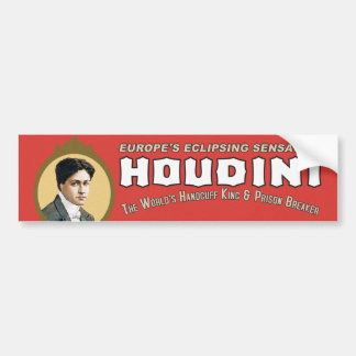 Houdini Handcuff King Bumper Sticker