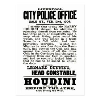 Houdini in Liverpool Postcard