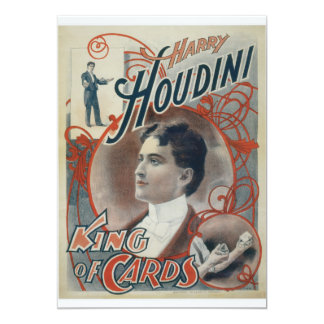 Houdini, King of Card Vintage Advertisement