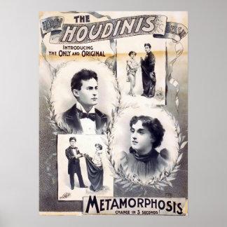 Houdini Metamorphosis Vintage Poster