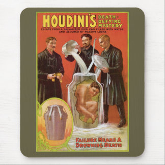 Houdini Milk Can Mouse Pad