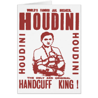 Houdini the handcuff king card