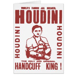 Houdini the handcuff king card