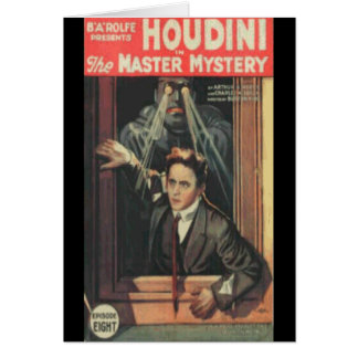 Houdini the man of mystery card