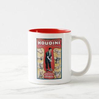 Houdini Vintage Magic Handcuff Escape Artist Two-Tone Coffee Mug