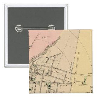 Houlton, Aroostook County Map 15 Cm Square Badge