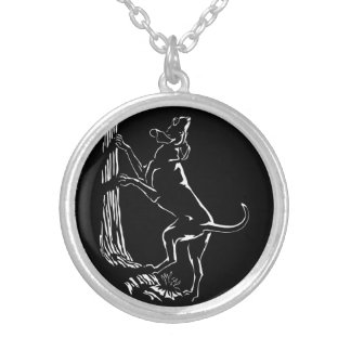 Hound Dog Art Necklace  Hunting Dog Jewelry Gifts