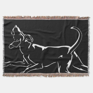 Hound Dog Blanket Hunting Dog Art Throw Blanket