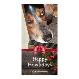 Hound Dog Christmas Beagle Photo Happy Howlidays Card