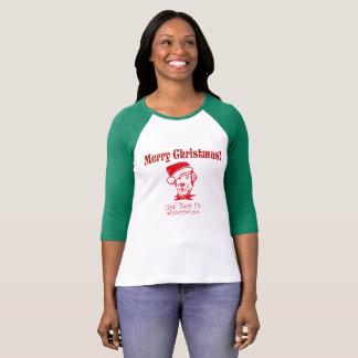 Hound Dog  Christmas Blessing T-Shirt