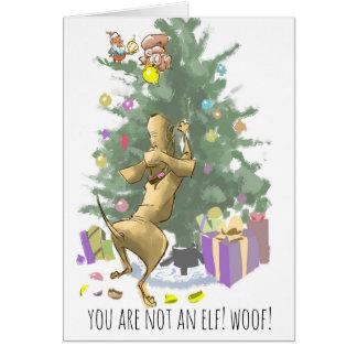 Hound Dog Christmas Card