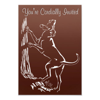 Hound Dog Invitations Personalize Hunting Dog Card