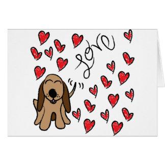 Hound Dog Love Card