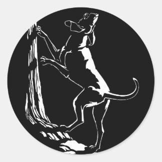 Hound Dog Stickers Hunting Dog Art Stickers